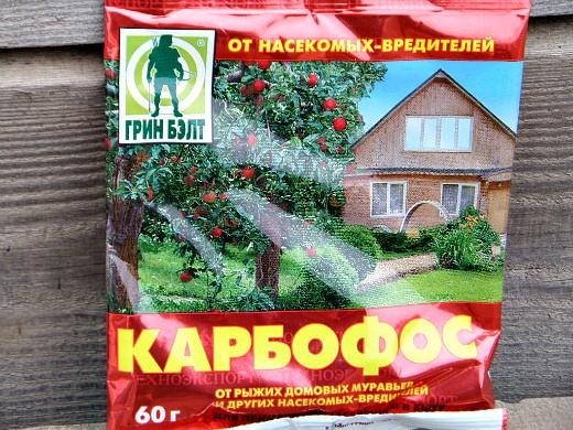 защита сада и огорода от вредителей с помощью карбофоса
