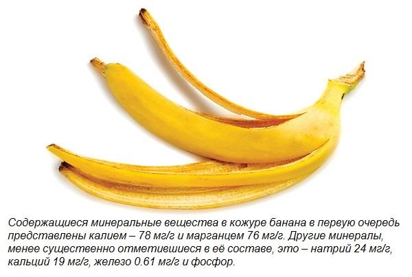 Состав банановой кожуры